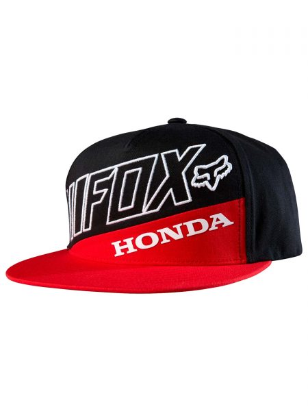 18989-055 Honda Premium Snapback Hat Red Black