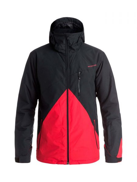EQYTJ03067 Quiksilver Mission Color Block Jacket Red