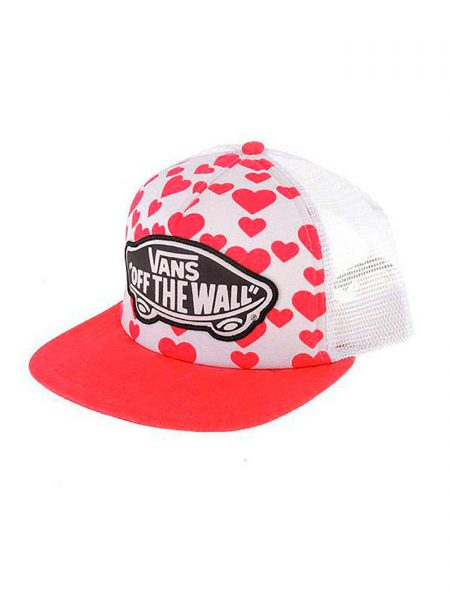 H5L Gorra Vans Beach Girl Trucker Red Hearts