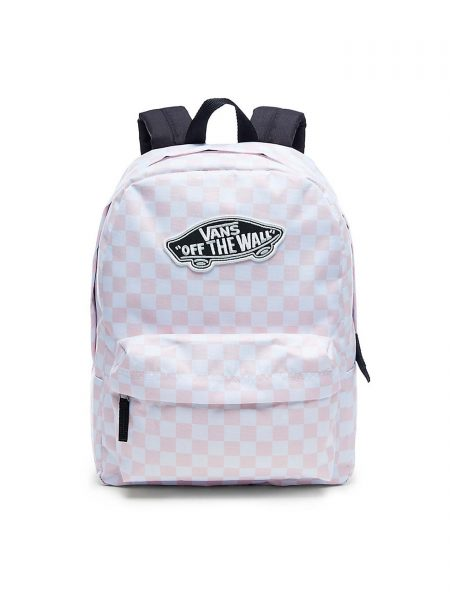 V00NZ0P2A Mochila Vans Realm Chalk Pink Checkerboard